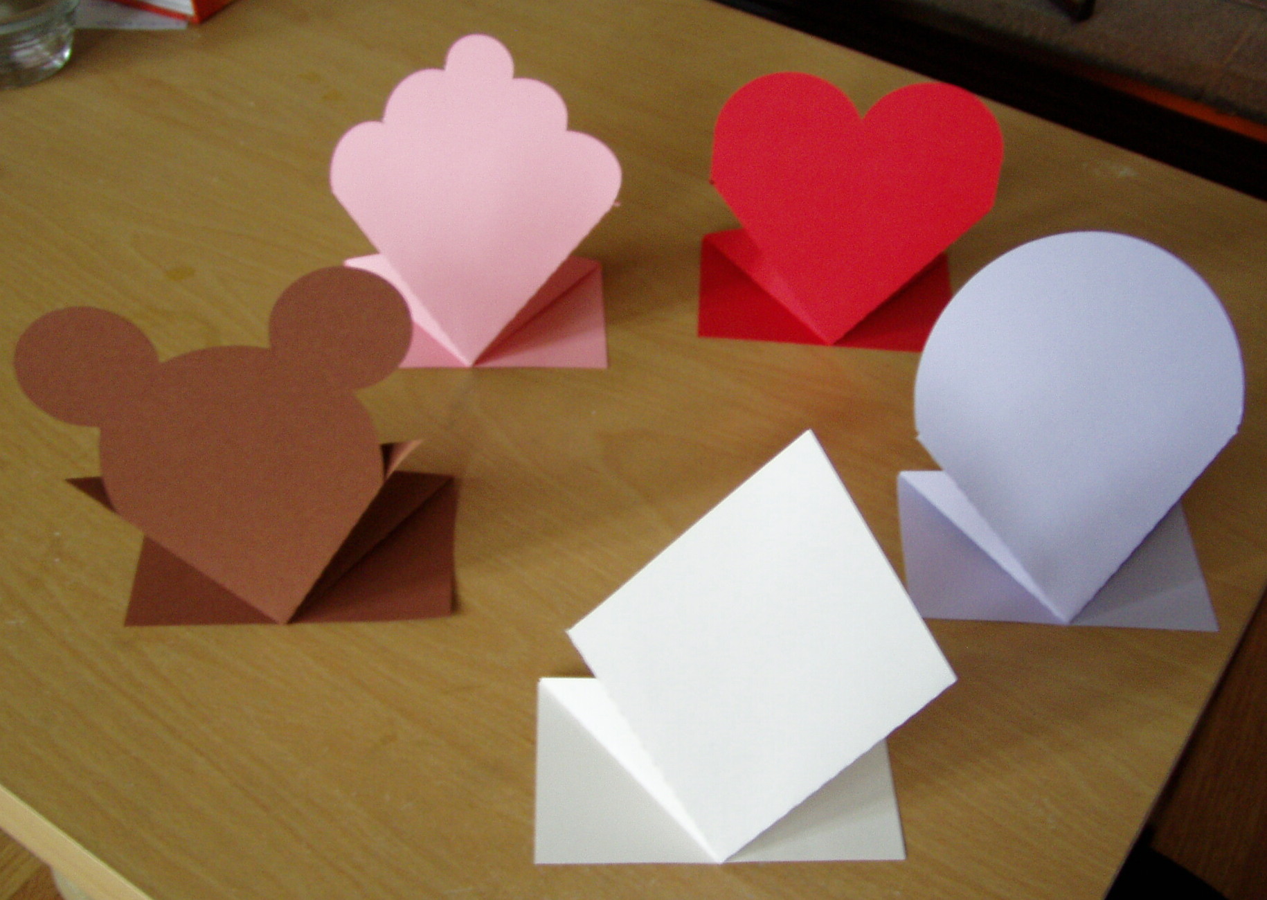Spring bounce up card templates