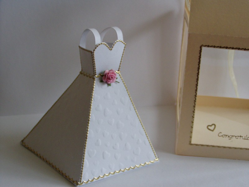 Wedding Dress Template Complete With Display Box
